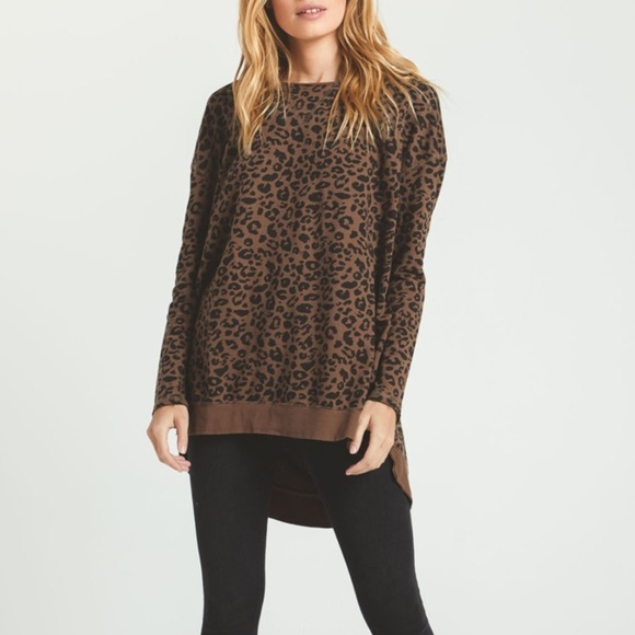 Z Supply Leopard Weekender Top